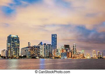 Miami Florida, summer sunset