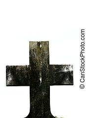 Grunge Stone Cross - High Contrast Stone Cross