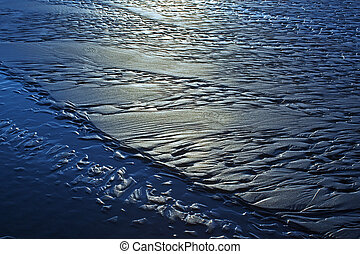 beach texture at evening