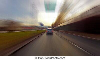 ride in  a car