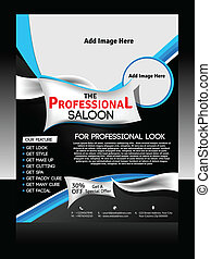 Saloon Flyer Template Vector illustration