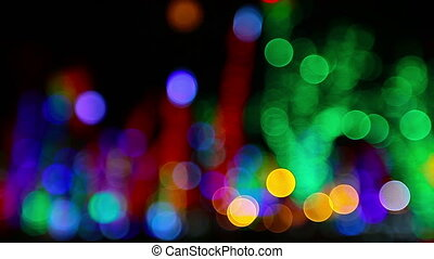 HD loopable video of blurred blinking Christmas lights