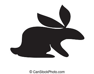 cute rabbit silhouette