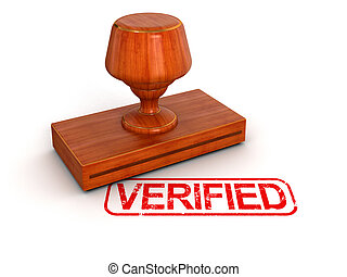 Rubber Stamp Verified Image with clipping path