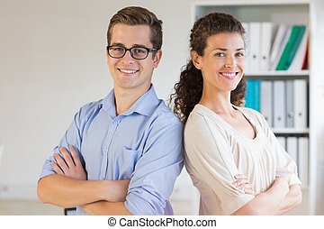 Confident business people in office - Portrait of confident...