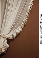 tulle curtain as background - a tulle curtain as background