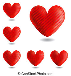 Set of design heart icons for Valentine's Day and wedding....