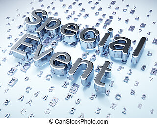 Finance concept: Silver Special Event on digital background,...