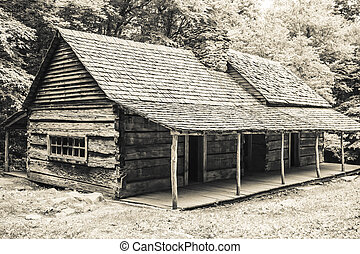 Log Cabin in the Woods - A log cabin in the woods. The Noah...