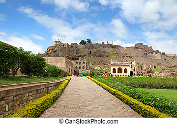 Golkonda fort, Hyderabad - 400 year old historic Golkonda...