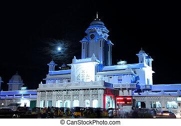 Kachiguda station - HYDERABAD,INDIA -SEPTEMBER 01: Kachiguda...