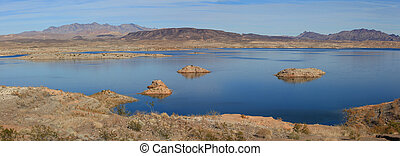 Lake Mead - Panoramic view of Lake Mead recreation area.