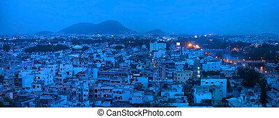 Panoramic view of Vijayawada city - VIJAYAWADA INDIA -...