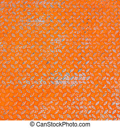 orange rusty zinc background