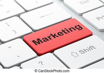 Marketing concept: Marketing on computer keyboard background...