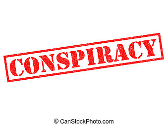 CONSPIRACY red Rubber Stamp over a white background.