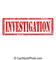 Investigation-stamp - Grunge rubber stamp with word...