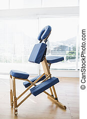 Massage chair in hospital - Blue massage chair in hospital