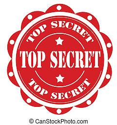 Top Secret - Label with text Top Secret,vector illustration