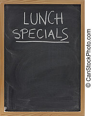 lunch specials on blackboard in vertical - lunch specials...