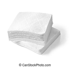 napkin - Paper napkins isolated on a white background with...
