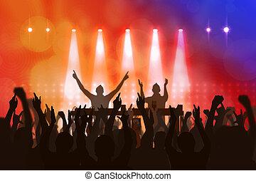 dj in concert