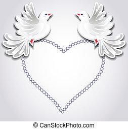 dwa, naiwniacy, serce