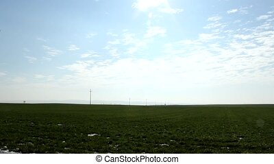 fields - small countryside fields in vojvodina