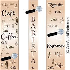 Banner accessory barista - Banner Accessory barista coffee