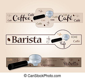 Banner accessory barista coffee
