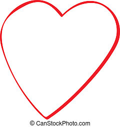 Love icon - Web icon - love heart on white background
