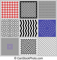 Optical Illusions Set - Optical visual illusions are...
