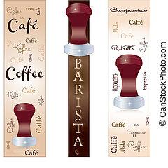 Banner accessory barista coffee