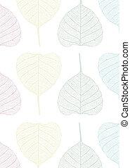 pastel pipal leaves pattern