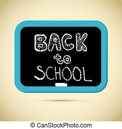 Back to School Title with Chalk and Blackboard