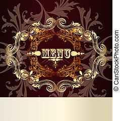 Elegant menu card for design - Elegant classic wedding...