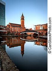 Chapel on Canals of Castlefield Manchester - Castlefield is...