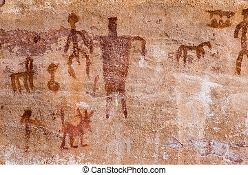 Petroglyphs - Ancient American Indian wall paintings aka...