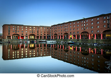 Liverpool Albert docks - The Albert Dock is a complex of...
