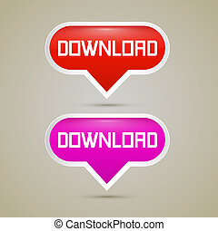 Download Buttons - Vector Illustration
