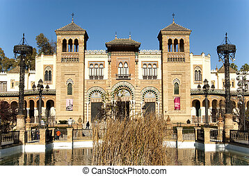 Museum of arts and customs in the Maria Luisa Park in...
