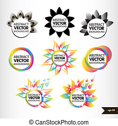Set of eight abstract icon