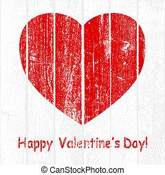 Grunge Wooden Valentine