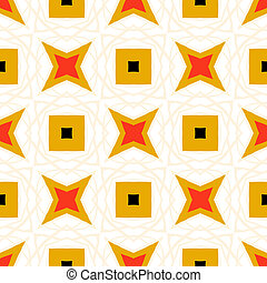 Seamless vector pattern with bold geometric shapes - Texture...