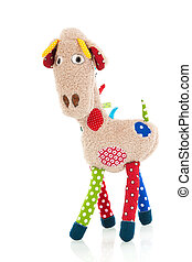 Stuffed animal giraffe - Stuffed animal Giraffe isolated...