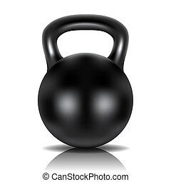 Metal dumbbell Image contains gradient mesh