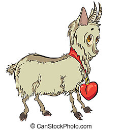 little goat with heart
