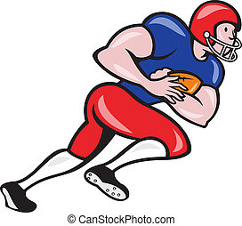 American Football Running Back Rushing - Illustration of an...
