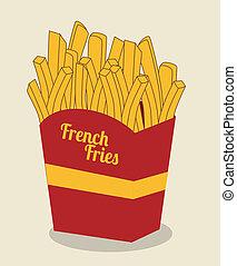 fast food over  beige  background vector illustration