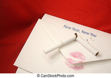 New Year New You - Displays the concept of quiting smoking...